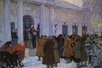 Борис Михайлович Кустодиев. Чтение манифеста. Вариант-повторение картины 1907 года