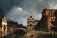 Giovanni Antonio Canal (Canaletto). Cloudy sky