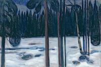 Эдвард Мунк. Зимний лес