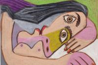 Пабло Пикассо. Бюст лежащей женщины