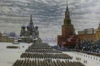 Константин Федорович Юон. «Парад на Красной площади в Москве 7 ноября 1941 года. Вариант-повторение картины 1942 года» 1949