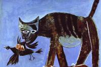 Пабло Пикассо. Кошка, поймавшая птицу