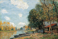 Alfred Sisley. The banks of the river Loing