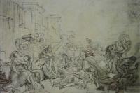 The last days of Pompeii. Sketch