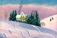 Габриель Мюнтер. Зимний пейзаж в Баварии