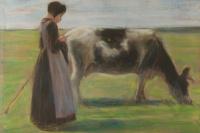 Девушка с коровой