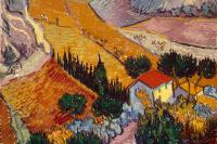 Винсент Ван Гог. Пейзаж с домом и пахарем