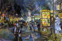 Konstantin Alekseevich Korovin. Paris Boulevard at night