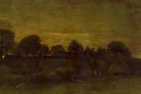 Поселок на закате