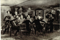 "Illustration to the novel of Mikhail Lermontov's ""the Fatalist"""