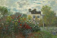 The garden of Monet at Argenteuil. The sun