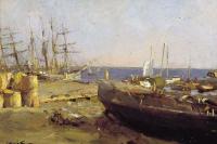 Valentin Aleksandrovich Serov. Fishing boats in Arkhangelsk