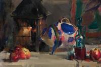 Натюрморт с мексиканской фарфоровой свинкой.