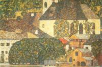 Густав Климт. Церковь в Унтерах на озере Аттерзее