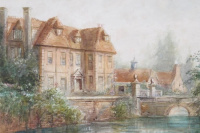 Manor on the river bank