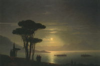 The Islands of Lago Maggiore in the moonlight