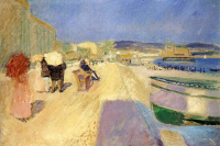 Edvard Munch. Promenade des Anglais in nice