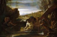 Александр Великий спасает Сиднуса на реке