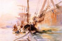 Разгрузка лодки в Венеции