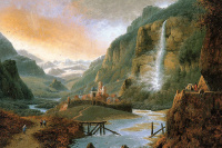 Йозефус Книп. Альпийский пейзаж