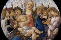 Sandro Botticelli. Madonna with singing angels,