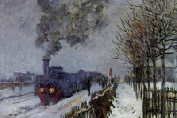 Train in the snow (the locomotive)