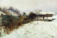Estate of the artist in winter