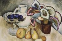 Илья Иванович Машков. Натюрморт с белым кувшином и фруктами. 1912-1913