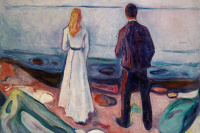 Edvard Munch. Two people. Lonely