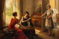 Альберт Линч 1851-1912 перуанский художник. Время чая.
