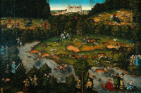 Оленья охота близ замка Хартенфельс