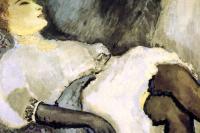 Lady in Black Gloves