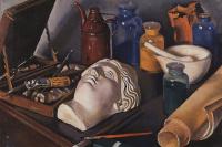 """Still life """"Attributes of the arts"""""""