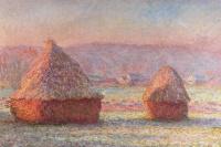 Haystacks (frost, dawn)