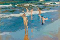 Хоакин Соролья (Соройя). Дети в море. Пляж в Валенсии