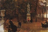 Зинаида Евгеньевна Серебрякова. Париж. Люксембургский сад