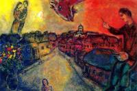 The artist over Vitebsk