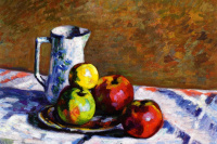 Arman Guillaume. Still life with apples