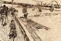 Винсент Ван Гог. Железнодорожный мост в Тринкетале на Роне