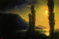 Moonlit night. The Surrounding Area Of Yalta