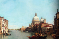 Francois Antoine Bossuete. The Grand canal in Venice