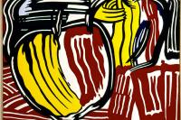 Рой Лихтенштейн. Два красно-желтых яблока