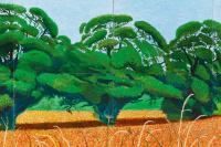 Дэвид Хокни. Три дерева возле Триксиндейла, весна