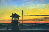 Закат на железной дороге