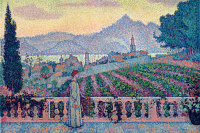 Paul Signac. The woman on the terrace