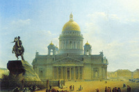 St. Isaac's Cathedral and monument to Peter I