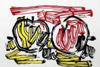 Рой Лихтенштейн. Красное яблоко и желтое яблоко