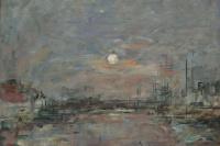 Эжен Буден. Луна поднимается над прудом