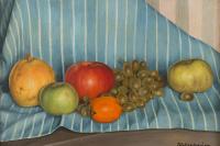 Каньяччо ди Сан Пьетро. Натюрморт с голубой тканью