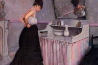 The woman at dressing table